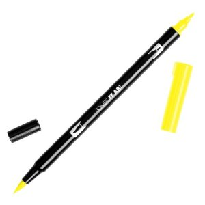 TOMBOW DUEL PEN - YELLOW 055