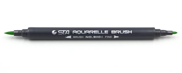STA AQUARELLE BRUSH MARKER GREEN